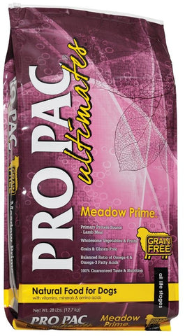 PRO PAC Grain Free Ultimates Meadow Prime Dry Dog Food