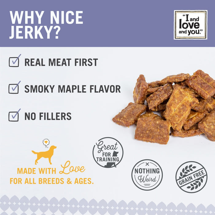 I And Love And You Nice Jerky Grain Free Chicken & Duck Dog Treats