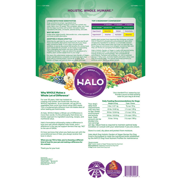 Halo Adult Holistic Garden of Vegan Dry Dog Food