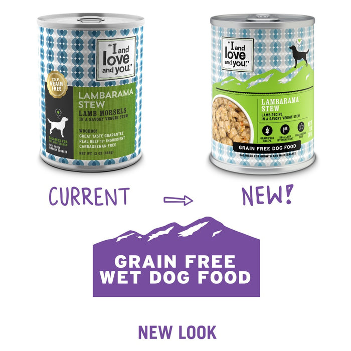 I And Love And You Grain Free Lambarama Stew Canned Dog Food