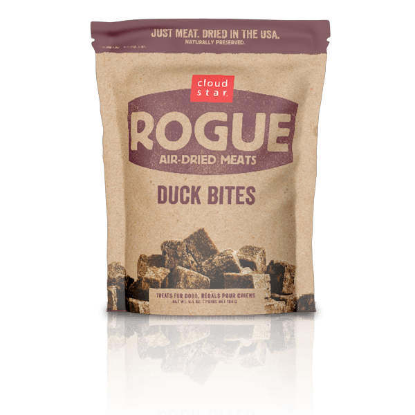 Cloud Star Rogue Air-Dried Meats Duck Bites Dog Treats