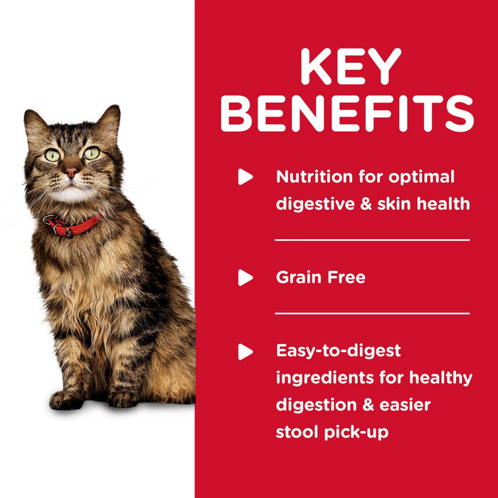 Hill's Science Diet Adult Grain Free Sensitive Stomach & Skin Chicken & Vegetable Entree Canned Cat Food