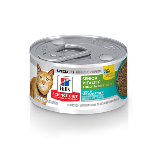 Hill's Science Diet Adult 7+ Senior Vitality Tuna & Vegetables Stew Canned Cat Food