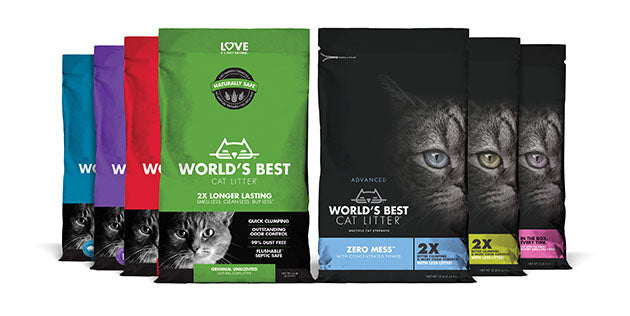 World's Best Zero Mess Pine Scented Cat Litter