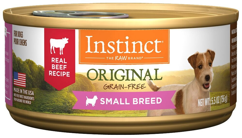 Nature's Variety Instinct Small Breed Grain Free Real Beef Recipe Natural Canned Dog Food