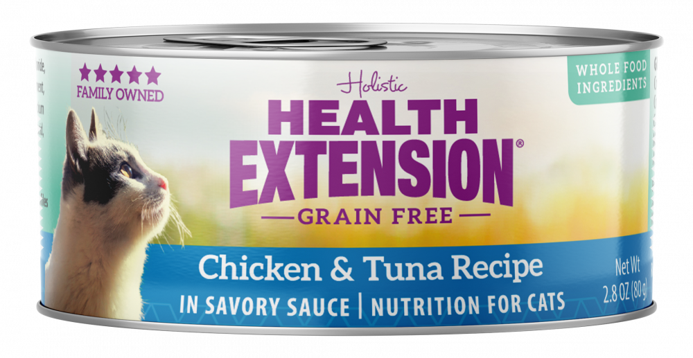 Health Extension Grain Free Chicken and Tuna Recipe Canned Cat Food