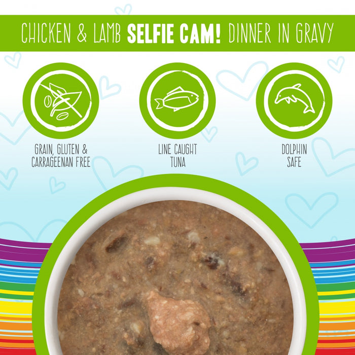 Weruva BFF Oh My Gravy Selfie Cam Grain Free Chicken & Lamb in Gravy Canned Cat Food