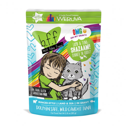 Weruva BFF Oh My Gravy Shazaam Grain Free Lamb and Tuna in Gravy Cat Food Pouch