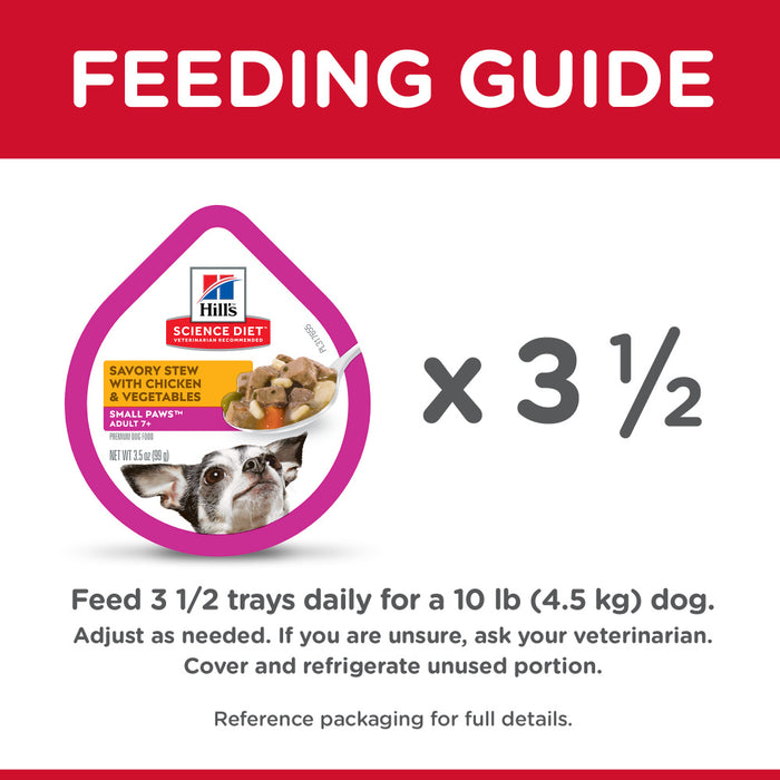 Hill's Science Diet Small & Toy Breed Adult 7+ Savory Chicken & Vegetable Stew Dog Food Trays