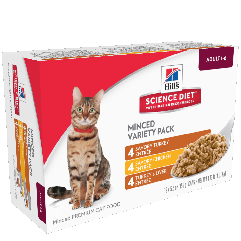 Hill's Science Diet Adult Savory Entree Variety Pack Canned Cat Food