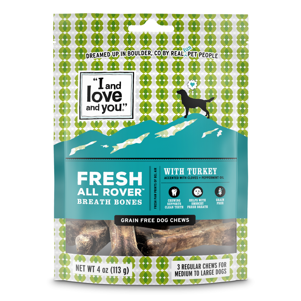 I and Love and You Fresh All Rover Regular Breath Bones Dog Chews