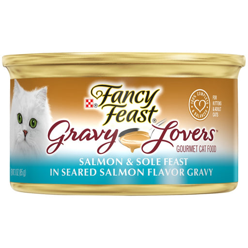 Fancy Feast Gravy Lovers Salmon & Sole Feast In Seared Salmon Flavor Gravy Canned Cat Food