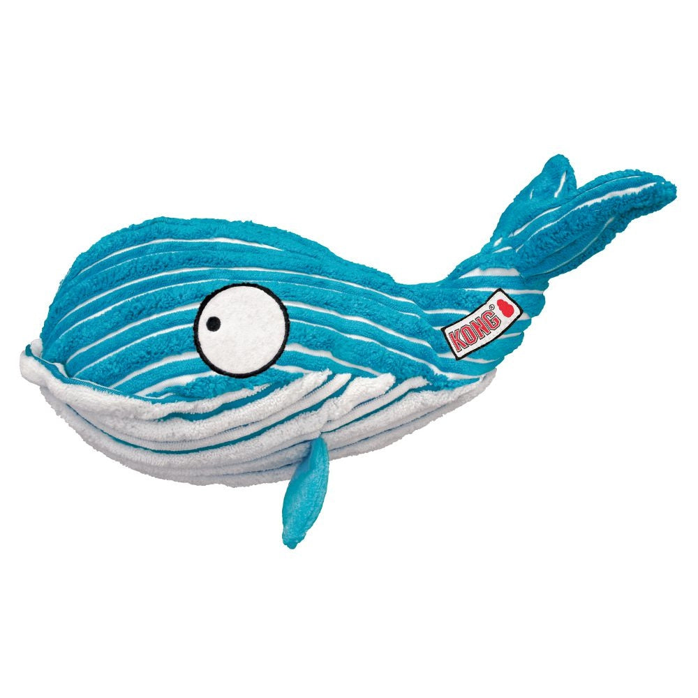 KONG CuteSeas Whale Crinkle Dog Toy