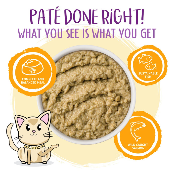Weruva Slide N' Serve Grain Free The Slice is Right Wild Caught Salmon Dinner Wet Cat Food Pouch
