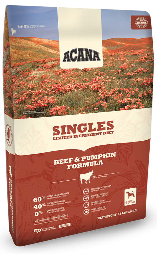 ACANA Singles Limited Ingredient Diet Grain Free Beef & Pumpkin Dry Dog Food
