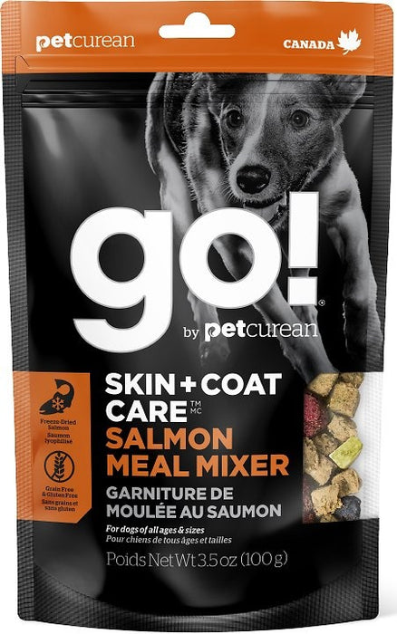 Petcurean Go! Skin + Coat Care Grain Free Freeze Dried Salmon Meal Mixer for Dogs