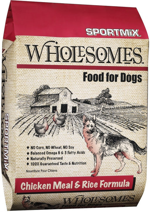 SPORTMiX Wholesomes Chicken Meal & Rice Recipe Dry Dog Food