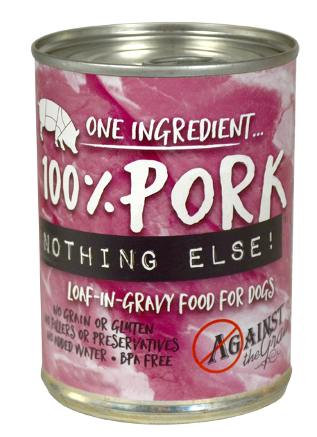 Against the Grain Nothing Else Grain Free One Ingredient 100% Pork Canned Dog Food