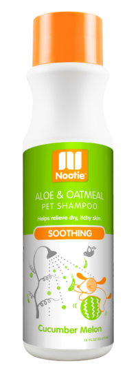 Nootie Soothing Aloe & Oatmeal Cucumber Melon Shampoo for Dogs