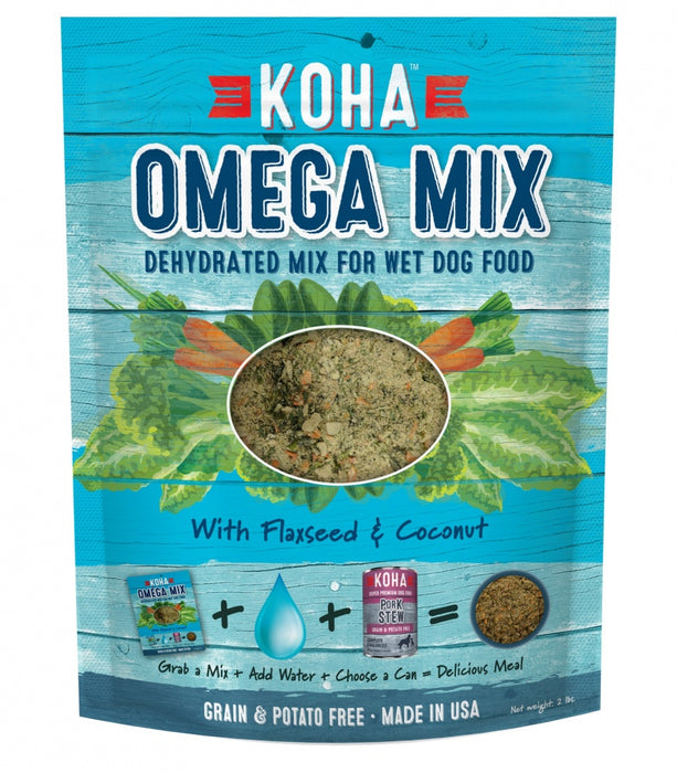 KOHA Omega Mix Healthy Skin & Coat Recipe Dehydrated Mix for Wet Dog Food