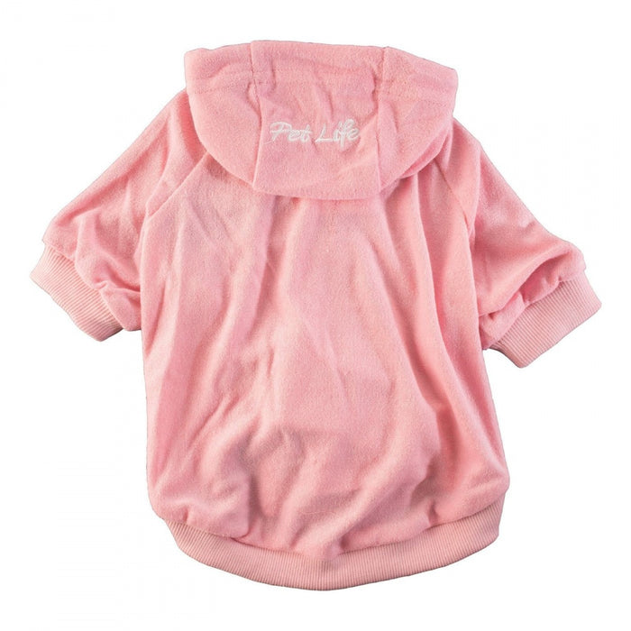 Pet Life Pink French Terry Cotton Dog Hoodie