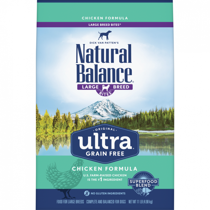 Natural Balance Original Ultra Grain Free Large Breed Bites Chicken Recipe Dry Dog Food