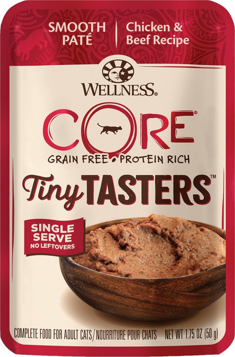 Wellness CORE Tiny Tasters Chicken & Beef Pate Wet Cat Food