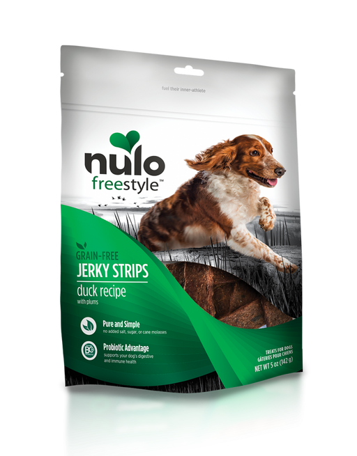 Nulo Freestyle Grain Free Duck & Plum Recipe Jerky Dog Treats