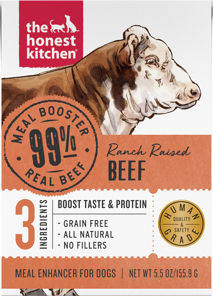 The Honest Kitchen Meal Booster 99% Beef Dog Food Topper