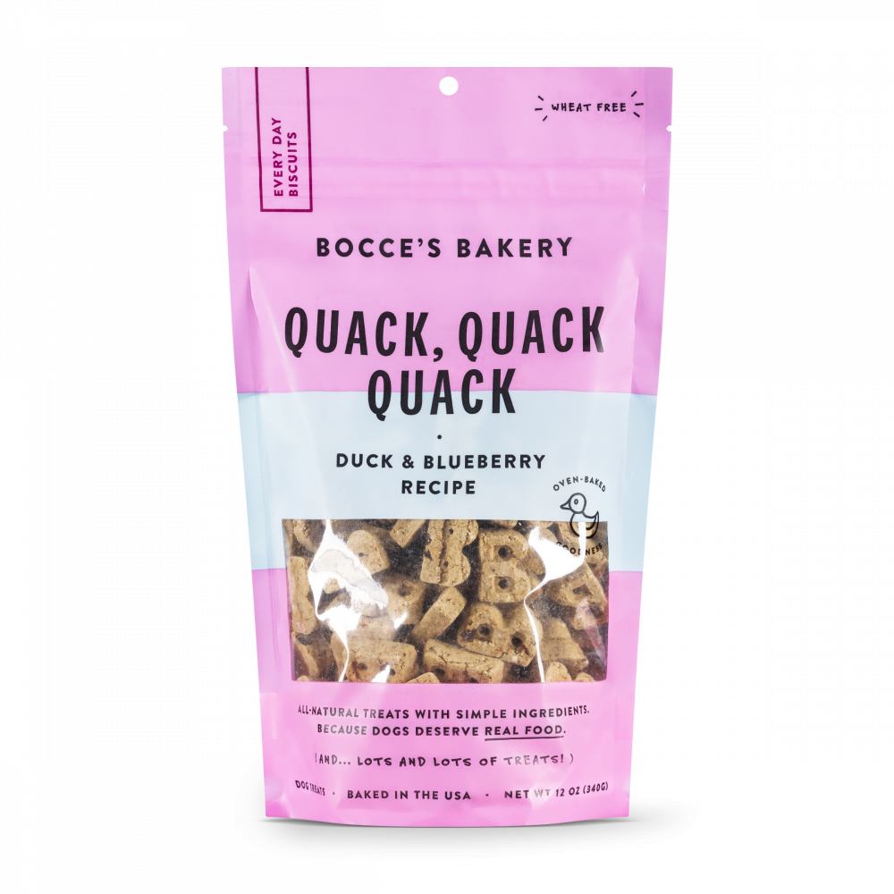 Bocce's Bakery Every Day Quack, Quack, Quack Biscuit Dog Treats