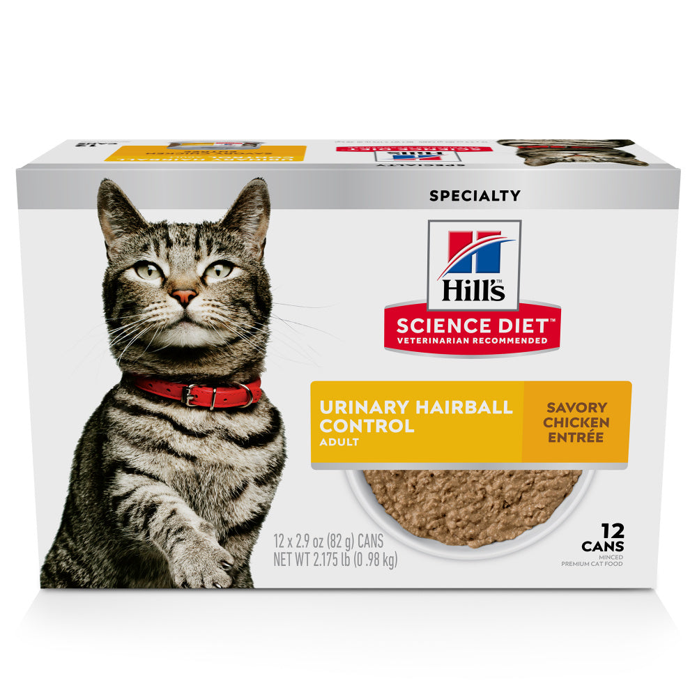 Hill's Science Diet Urinary & Hairball Control Savory Chicken Entree Adult Canned Cat Food