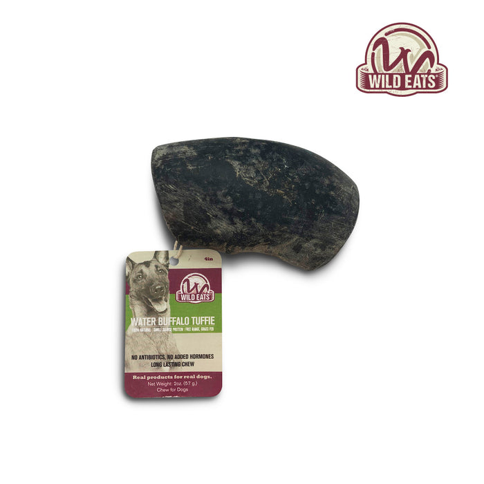 Wild Eats Water Buffalo Tuffie Cut Horn Dog Chew