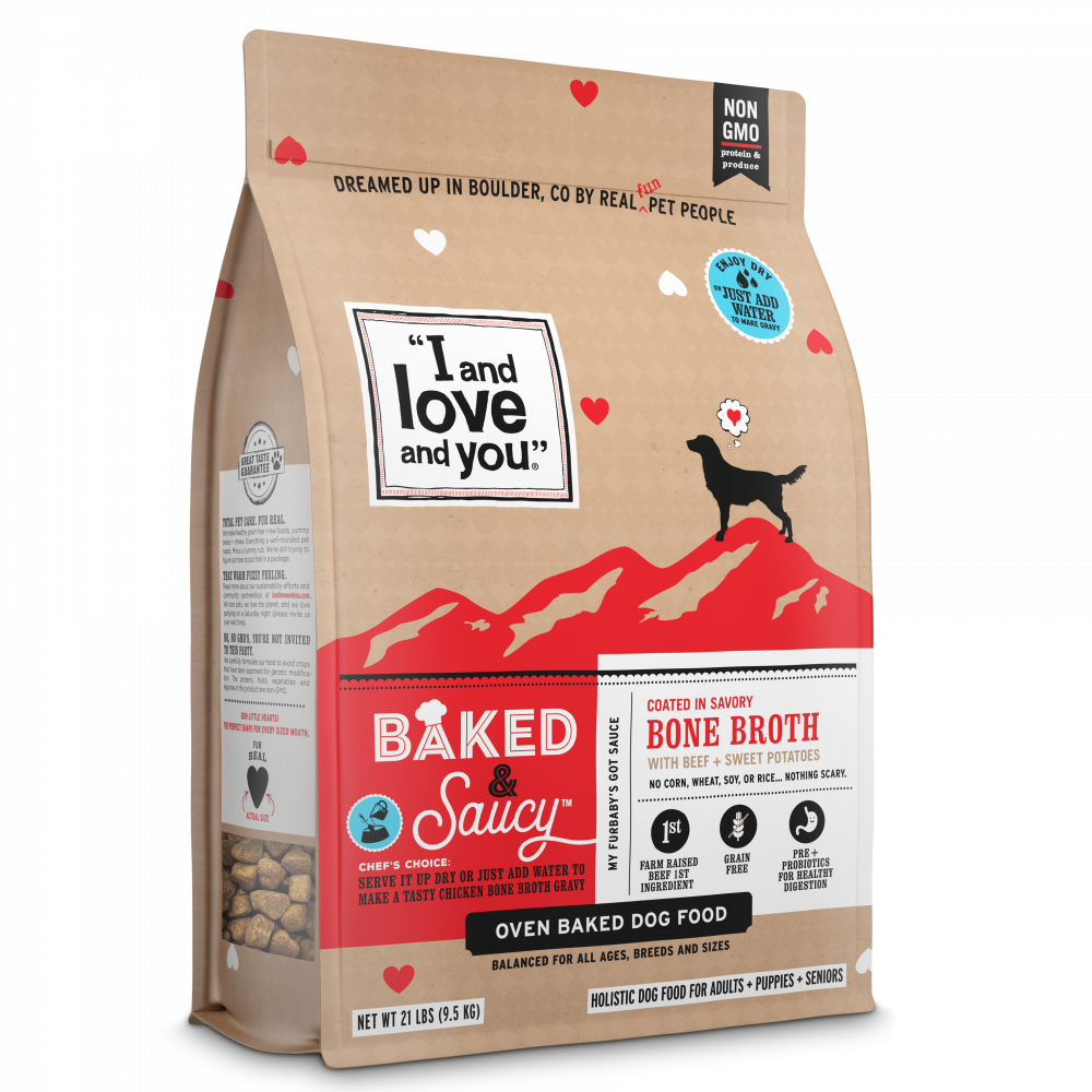 I and Love and You Baked & Saucy Beef & Sweet Potato Dry Dog Food