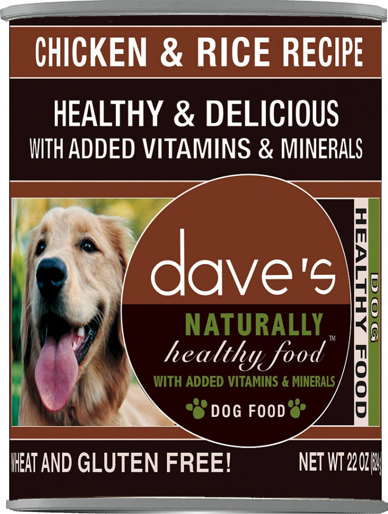 Dave's Naturally Healthy Chicken & Rice Canned Dog Food