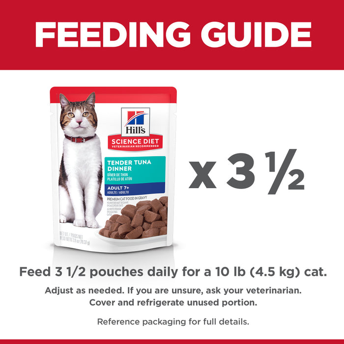 Hill's Science Diet Senior 7+ Tender Tuna Dinner Wet Cat Food