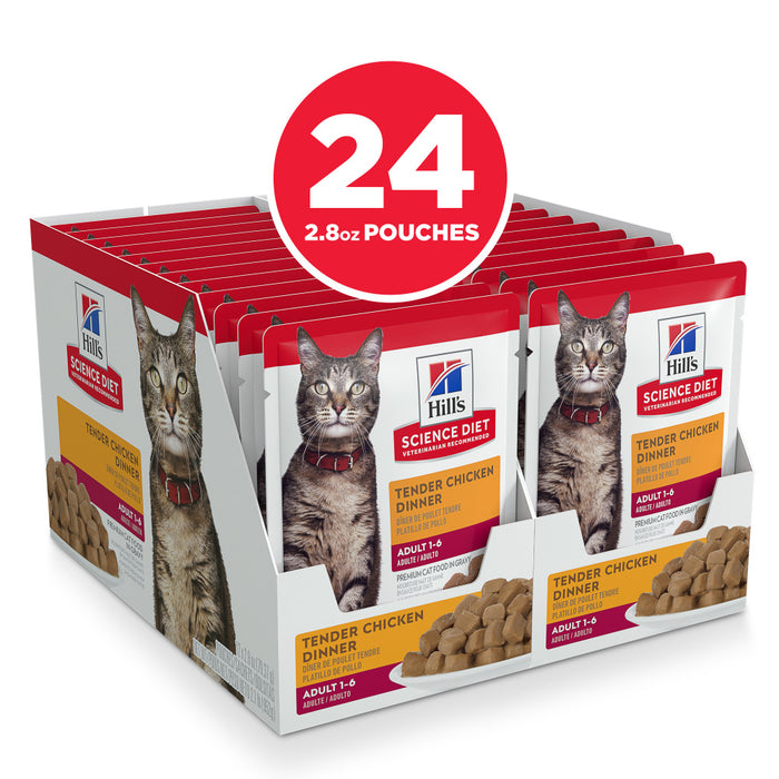 Hill's Science Diet Tender Chicken Dinner Adult Wet Cat Food