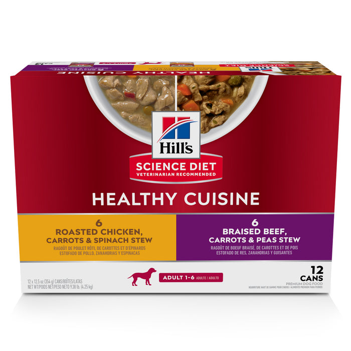 Hill's Science Diet Healthy Cuisine Variety Pack Adult Canned Dog Food