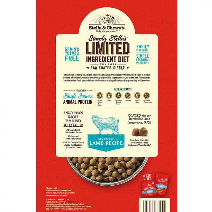 Stella & Chewy's Simply Stella's Limited Ingredient Diet Grass Fed Lamb Recipe Dry Dog Food