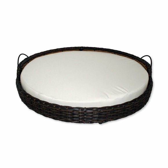 Rattan Round Dog Bed Basket by Iconic Pet