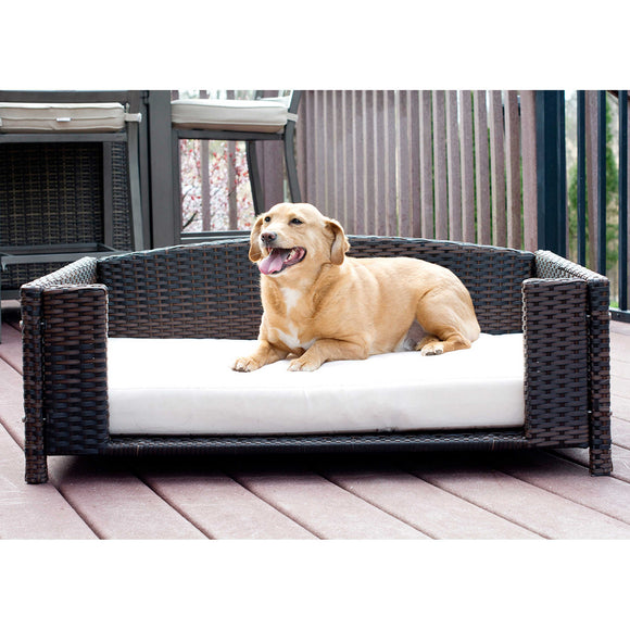 Rectangular Rattan Dog Sofa by Iconic Pet
