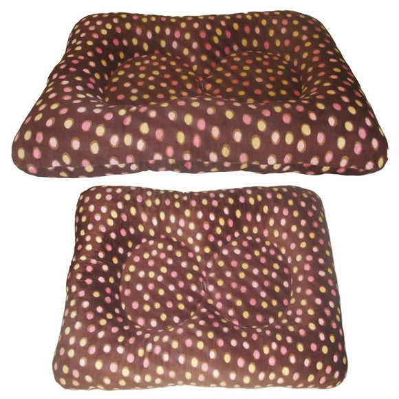 Two's Company Dog Bed - Camel Pink Bubbles