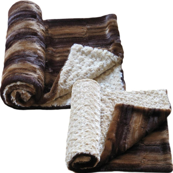 Luxury Decorative Dog Blankets - Frosted Chestnut Beaver