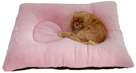 Two's Company Dog Bed - Dusty Pink Seal