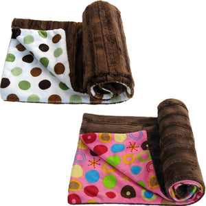 Luxury Decorative Dog Blankets - Grooved Dots White or Hot Pink
