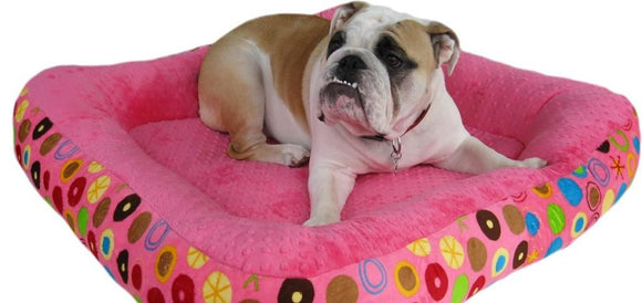 Cloud Nine Dog Beds - Round, Rectangle, Square - Hot Pink Bubbles