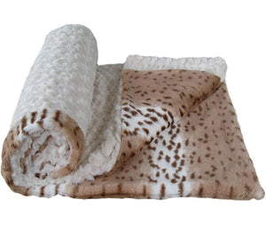 Luxury Decorative Dog Blankets - Ivory Rose Cuddle Lynx