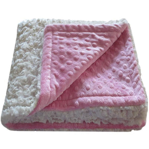 Luxury Decorative Dog Blankets - Ivory Paris Pink Rose Dimple