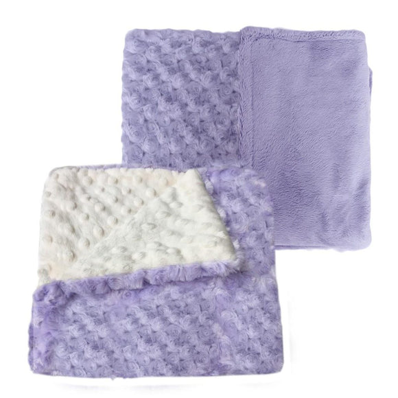 Luxury Decorative Dog Blankets - Plush Lavender Rose or Ivory Dimple