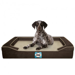 Lux Premium Autumn Brown Orthopedic Bolster Dog Bed
