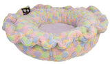 Lily Pod Dog Bed - Convertible & Reversible - Ice Cream & Lilac by Bessie + Barnie